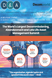 DecomWorld returns for 12th Annual D&A Summit with Reuters backing, record E&P numbers and international speaker faculty